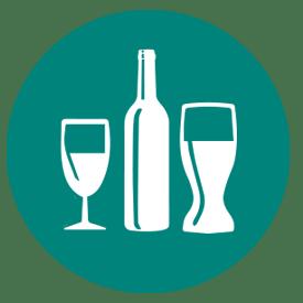 Wine glass wine bottle beer glass icon