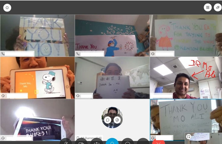 Thank you video conference