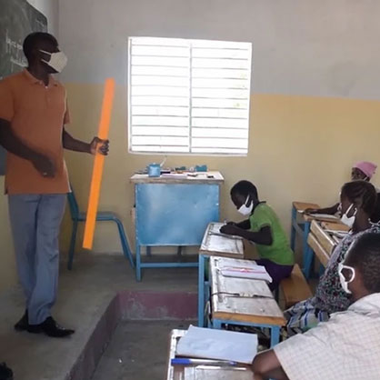 Children learning in Burkina Faso