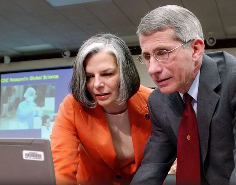 Dr. Gerberding and Dr. Fauci working together
