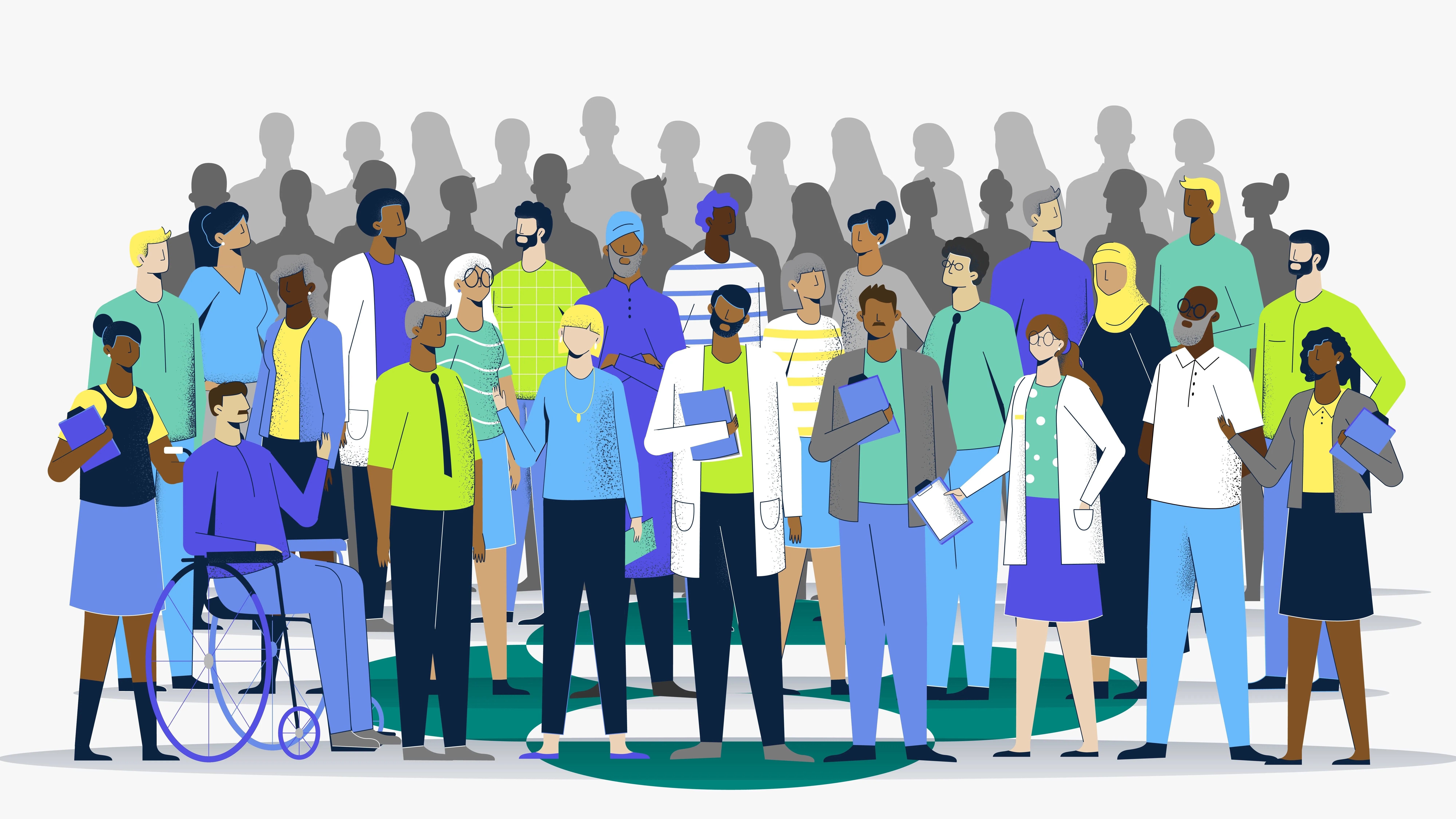 large group of people illustration